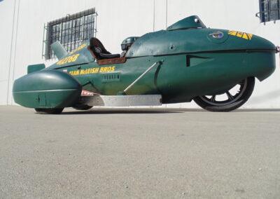 2010 Land Speed Bonneville P38 Race Bike 600cc Drop Tank Sidecar Land Speed Racer
