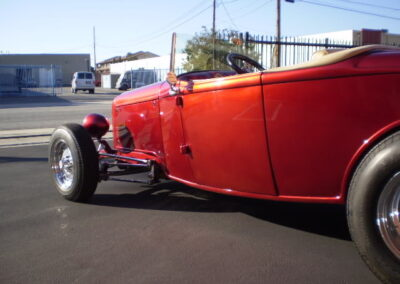1932 Ford Roadster Chrome - Candy Red